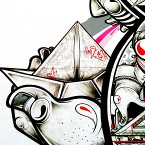 New Mural How and Nosm LA Freewalls Project