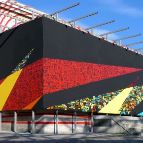 Lek and Sowat Mural and Installation at the Wip Villette Paris
