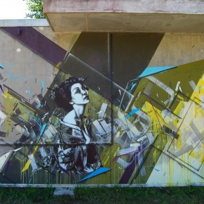 Morten Andersen and Fin DAC 'Tron Geisha' Mural in France