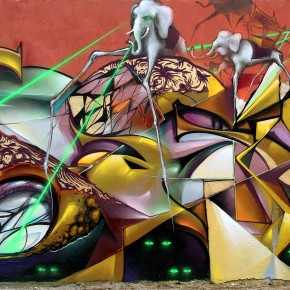 PAUM/SARIN and BIMS Graffuturism 2011 Ghetto Farceur Canigou Surreal Graffiti