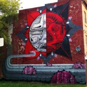 How & Nosm Living Walls Albany Mural