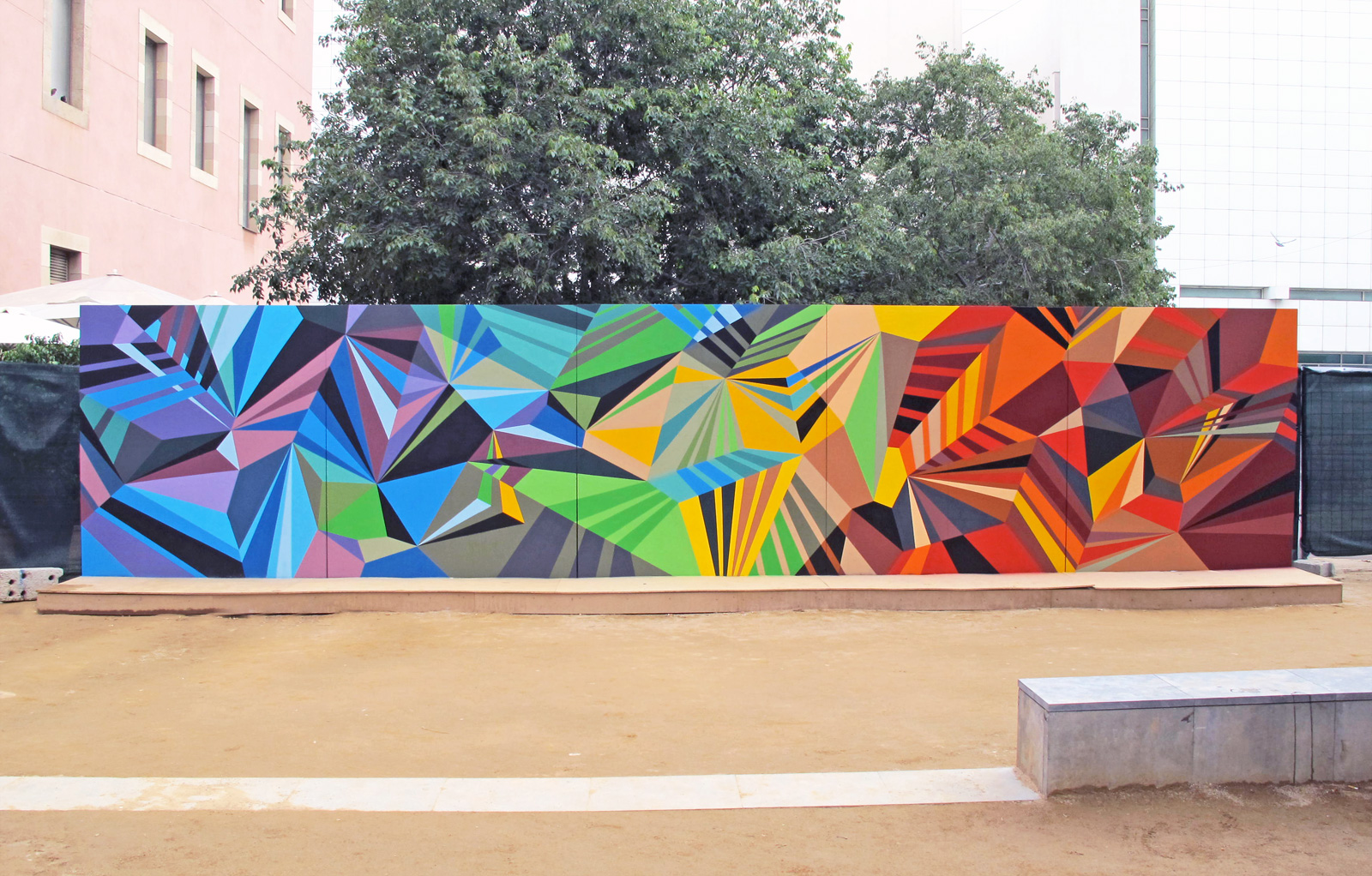 2011 miami basel countdown report fireplace chats for Exterior mural painting