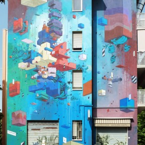 Etnik Wall Installation for Frontier Project in Bologna