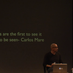 "Video Artist talk with Carlos Mare ""Art of the next Century"""