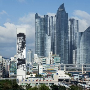 "Asia's Tallest Mural by Hendrik ""ECB"" Beikirch""Where there is no struggle, there is no strength."""