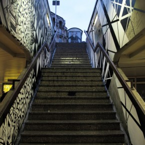 Erosie & Graphic Surgery Stairway Installation Luxembourg