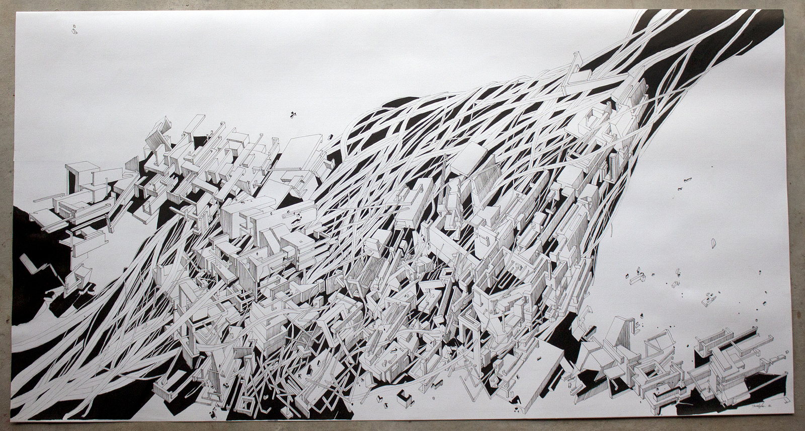 Update kidghe works on paper vietnam graffuturism for Paper for architectural drawings