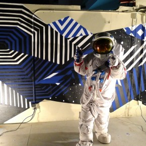 "Demsky Felipe Pantone and Stan Xeme at the Badmotel Bangkok ""Plus Vltra"""