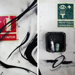She One Paints abandoned Factory in Barcelona