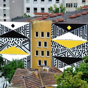 Mural Update Blaqk at Traffic Design Festival in Poland