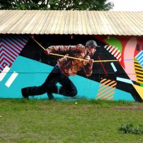 Mural Update Maser & Fintan Magee at Roskilde, Denmark.