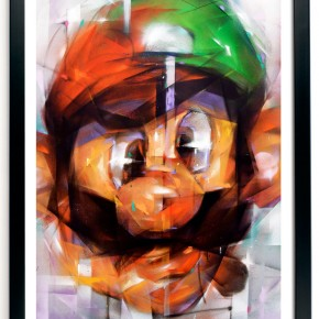 """Print Release Samuel Rodriguez """"Mario Vs. Luigi"""" at 1xRun"""