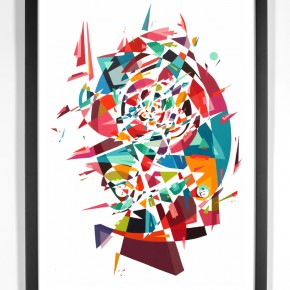 "Limited Edition Print Release Kenor ""Tranceforms"" with 1XRUN"