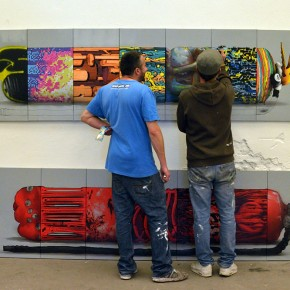 "Recap Da Mental Vaporz Group Exhibition and Mural ""The Wall"" presented by BC Gallery Berlin"