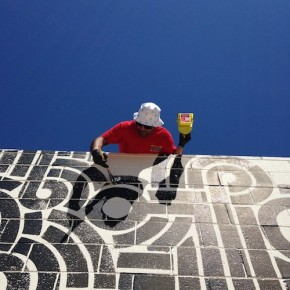 Mural Update Aaron De La Cruz at the Ace Hotel Palm Springs