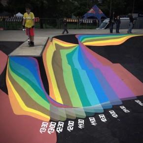 Zuk Club Skatepark Mural installation