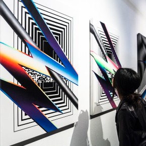 "Recap Felipe Pantone """"Stereodynamica"" at Backwoods Gallery"